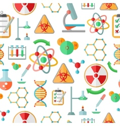 Chemistry research seamless pattern vector