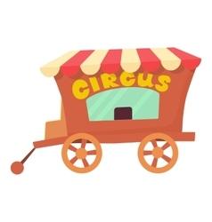 Circus wagon icon cartoon style vector image