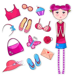girls world vector image vector image