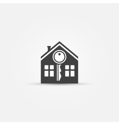 House and key icon vector