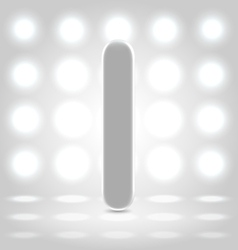I over lighted background vector image vector image