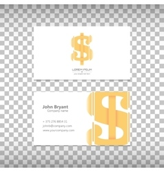 Logo with business card vector