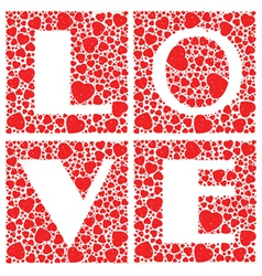 Love Heart Shaped vector image
