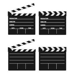 movie clipper white vector image
