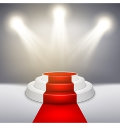 Podium with red carpet EPS 10 vector image vector image