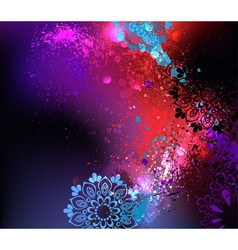 Purple background holi vector