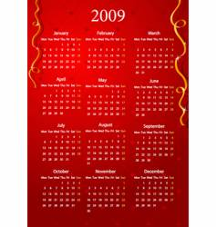 red calendar vector image vector image