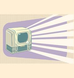Retro television vintage vector
