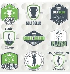 Set of vintage golf labels badges and emblems vector image vector image