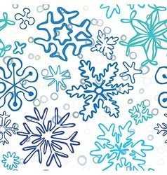 Snowflakes pattern vector