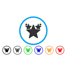 Stars hit parade rounded icon vector
