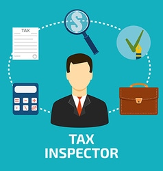 Tax inspector icon flat style vector