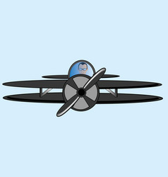 the small plane vector image vector image