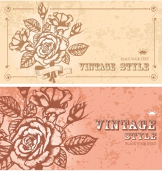 two floral backgrounds vector image vector image