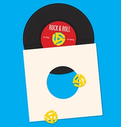 Vinyl Record Design Template vector image