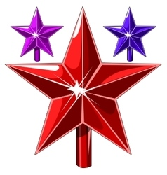 Red stars and other of different color vector image