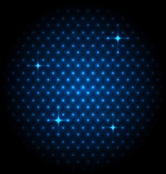 Abstract global with blue dots background vector