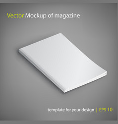 Mockup of magazine on gray background vector
