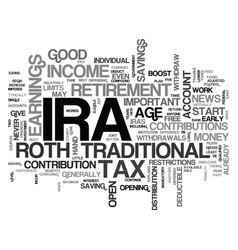 What is an ira text word cloud concept vector