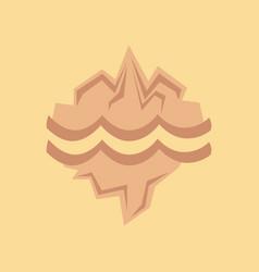 Flat icon on stylish background melting glacier vector