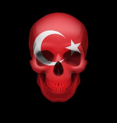 Turkish flag skull vector