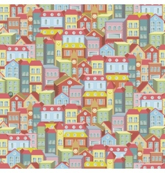 Town concept background pattern seamless vector