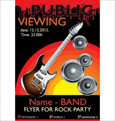 Public banner rock party vector