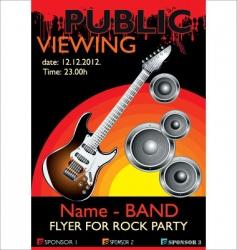 Public banner rock party vector