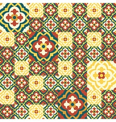 Retro floor tiles patern vector