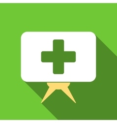 Health care presentation flat long shadow square vector