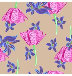Stock floral seamless background vector
