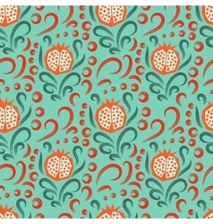 Pomegranate pattern seamless ornament vector