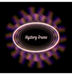 Mystic shiny card with circle ornament and color vector
