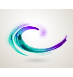 Abstract colorful swirl icon symbol vector