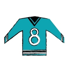 Blue canadian jersey hockey graphic sketch vector