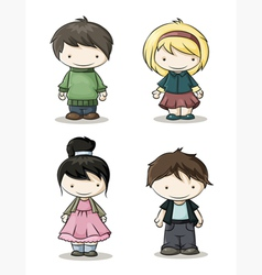 boys and girls color vector image vector image