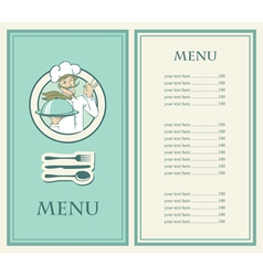 chef menu vector image vector image