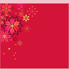 Christmas red classic background vector