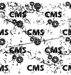 Cms settings pattern grunge monochrome vector