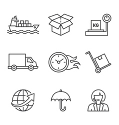 Concepts of delivery shipping vector