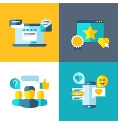 Customer service client survey feedback rating vector image vector image