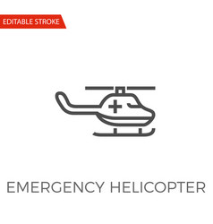 emergency helicopter icon vector image