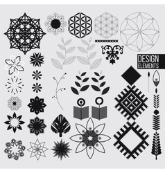 Geometric abstract design elements vector