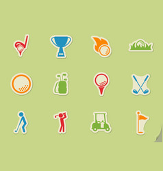 golf simply icons vector image vector image