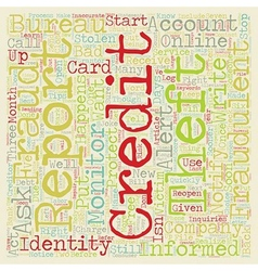 Identity Theft When It Happens To You text vector image vector image