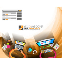 Infographics teamwork with business background vector