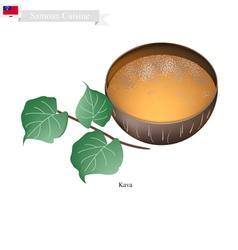 Kava drink or traditional samoan herbal beverage vector