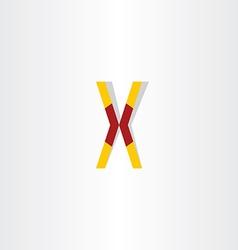 letter x symbol logotype element vector image