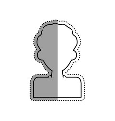 man male silhouette vector image vector image