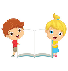 of kids keeping notebook vector image vector image